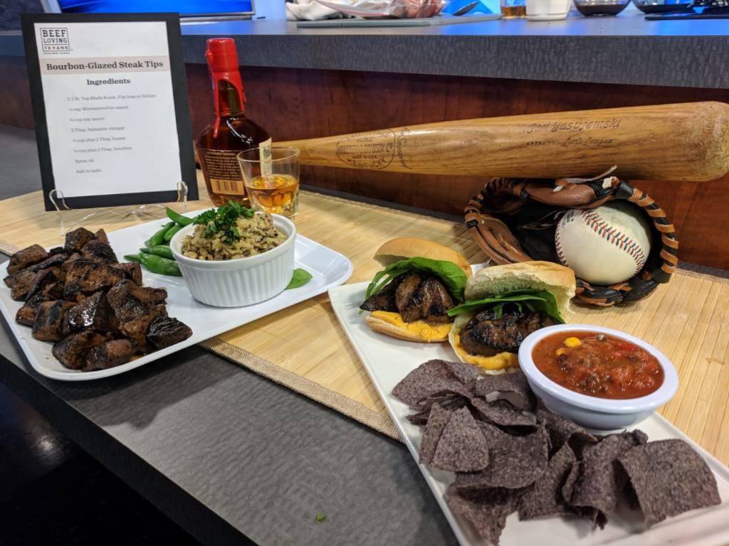 bourbon glazed steak tips