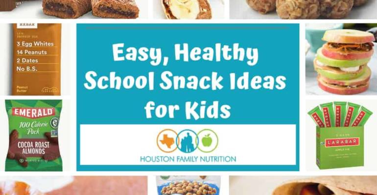 Easy Healthy Snack Ideas for Kids – Dietitian Recommended